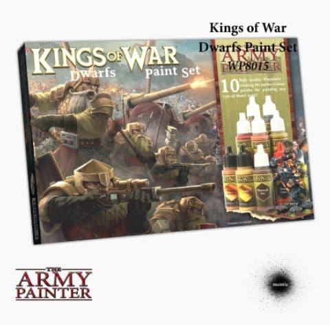 The Army Painter - Kings of War: Dwarfs Acrylic Paint Set # WP8015P