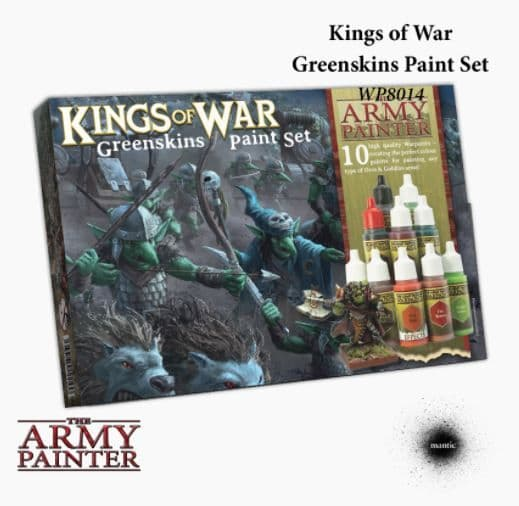 The Army Painter - Kings of War: Greenskins Acrylic Paint Set # WP8014P
