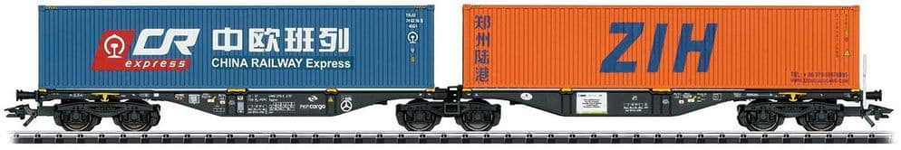 Trix HO Scale PKP Type Sggrss Double Container Transport Car # 24802
