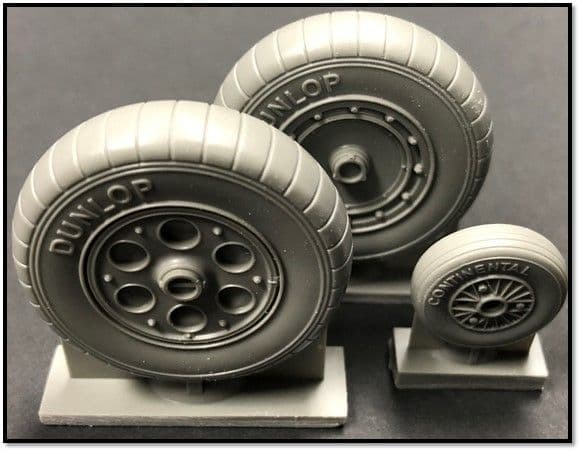 True Details 1/18 Focke-Wulf Fw-190A-5/8 Wheel with Ribbed Tyre # P18221