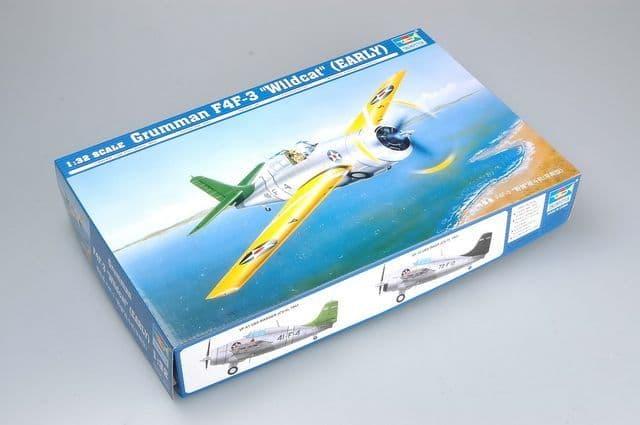 """Trumpeter 1/32 Grumman F4F-3 """"Wildcat"""" (Early) # 02255"""