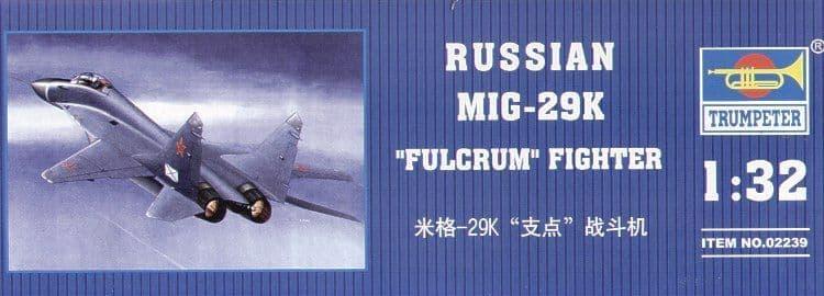 Trumpeter 1/32 Mikoyan MiG 29K Fulcrum # 02239
