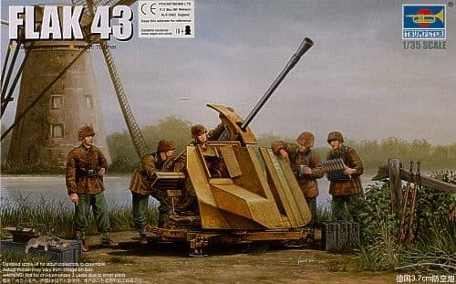 Trumpeter 1/35 FlaK 43 German 3.7cm Anti-aircraft Gun # 02311