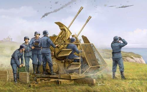 Trumpeter 1/35 German 37mm Flak 43 Zwilling # 02347