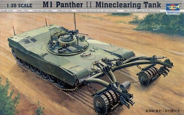Trumpeter 1/35 M1 Panther II Mineclearing Tank # 00346