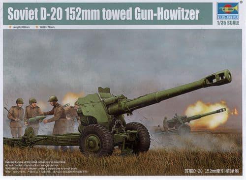 Trumpeter 1/35 Soviet D-20 152mm Towed Gun Howitzer # 02333
