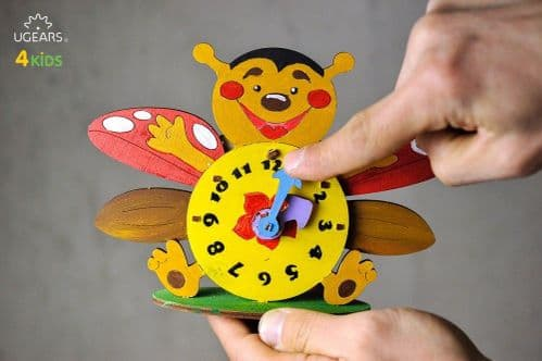 UGears 3D Colouring Model - Clock # 30001