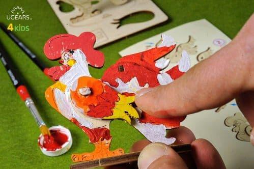 UGears 3D Colouring Model - Cockerel # 10007