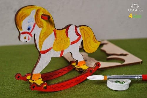 UGears 3D Colouring Model - Rocking Horse # 10004