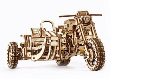 UGears Mechanical Model - Scrambler UGR-10 Motor Bike with Sidecar # 70137