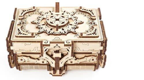 UGears Mechanical Model - Wooden Antique Box # 70089