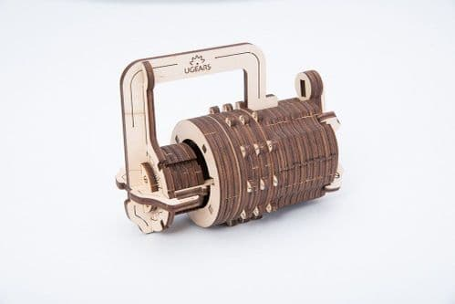 UGears Mechanical Model - Wooden Combination Lock # 70020