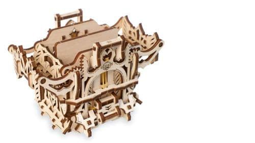 UGears Mechanical Model - Wooden Deck Box Device for Card Games # 70071