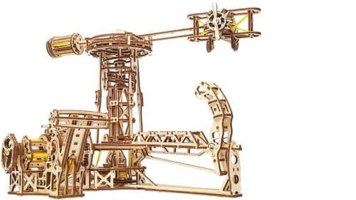 UGears Mechanical Model - Wooden Mechanical Aviator # 70053