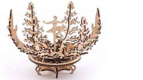 UGears Mechanical Model - Wooden Mechanical Flower-etui # 70019