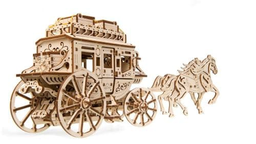 UGears Mechanical Model - Wooden Model Stagecoach # 70045