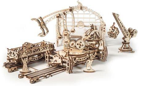 UGears Mechanical Model - Wooden Rail Mounted Manipulator # 70032