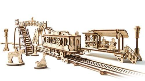 UGears Mechanical Model - Wooden Tram Line # 70028