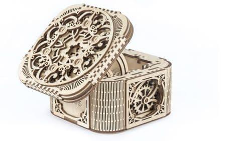 UGears Mechanical Model - Wooden Treasure Box # 70031
