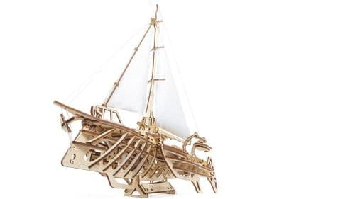 UGears Mechanical Model - Wooden Trimaran Merihobus # 70059