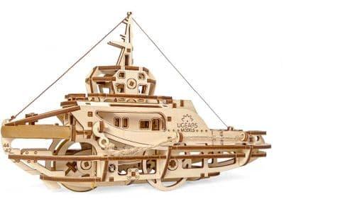 UGears Mechanical Model - Wooden Tugboat # 70078