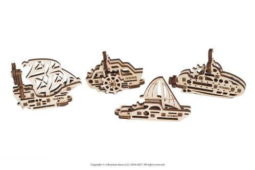 UGears Mechanical Model - Wooden U-Fidget Ships # 70035