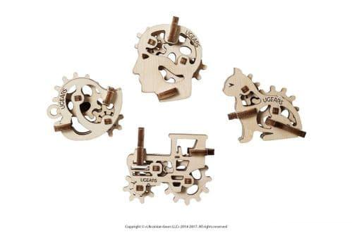 UGears Mechanical Model - Wooden U-Fidget Tribiks # 70029