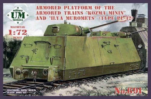 UM-MT 1/72 Armored Platform of the Armored Trains