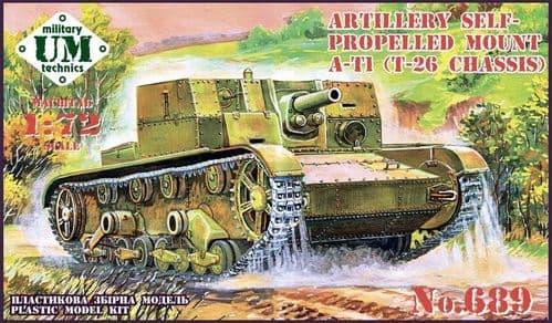 UM-MT 1/72 AT-1 Soviet Artillery Self-Propelled Gun (Rubber Tracks) # 689