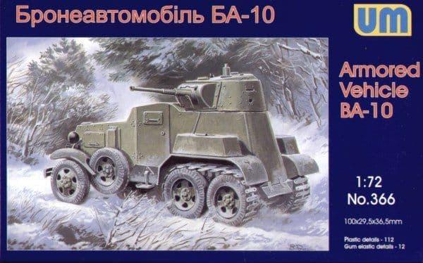 UM-MT 1/72 Soviet BA-10 Armoured Car Railway Version # 366