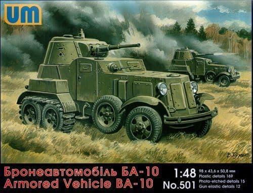 Unimodel 1/48 BA-10 Armoured Vehicle # 501