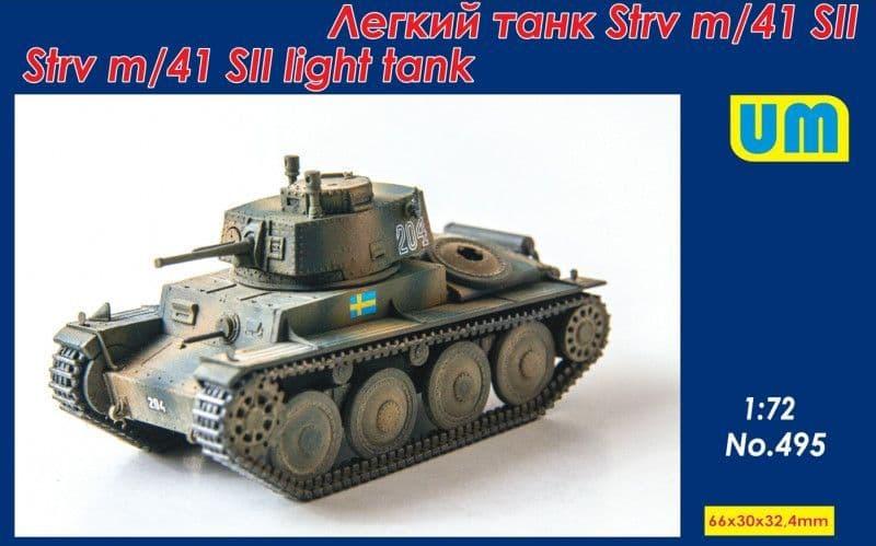 Unimodel 1/72 Strv m/41 SII Light Tank # 495