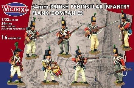 Victrix 1/32 54mm British Peninsular Infantry Flank Company # VX5401