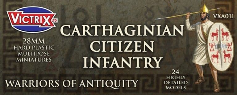 Victrix 28mm Carthaginian Citizen Infantry # VXA011