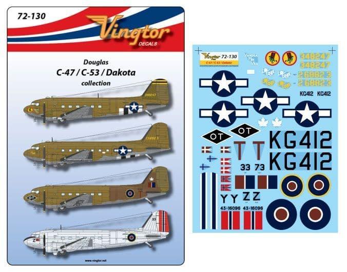 Vingtor 1/72 Douglas C-47/C-53/Dakota Collection # 72130