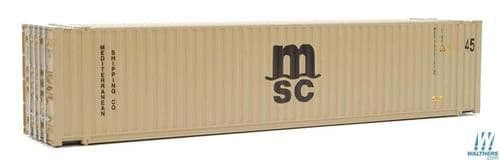 Walthers Scene Master HO Scale 45' CIMC Container MSC # 949-8565