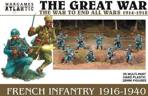 Wargames Atlantic 28mm The Great War - French Infantry 1916-1940 # WAAGW002