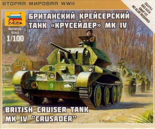 Zvezda 1/100 British Cruiser Tank Mk. IV Crusader # 6227