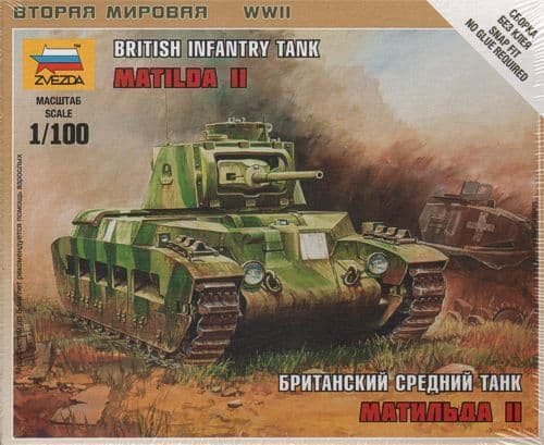 Zvezda 1/100 British Infantry Tank Matilda II # 6171