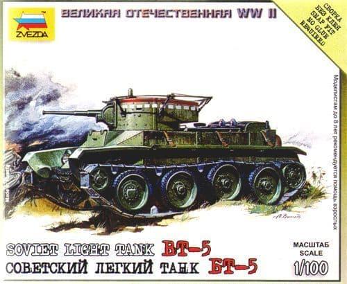 Zvezda 1/100 BT-5 Soviet Light Tank # 6129