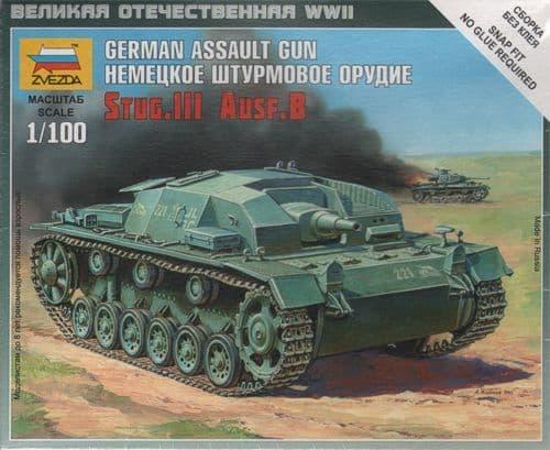 Zvezda 1/100 German Assault Gun Stug.III Ausf.B # 6155