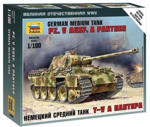Zvezda 1/100 German Medium Tank Pz. V Ausf. Panther # 6196