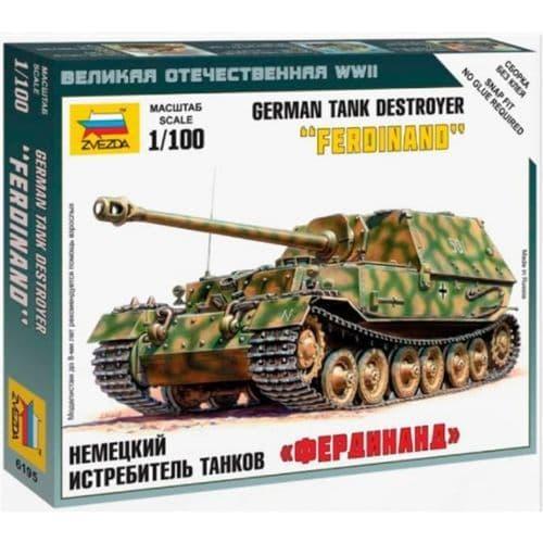 """Zvezda 1/100 German Tank Destroyer """"Ferdinand"""" # 6195"""