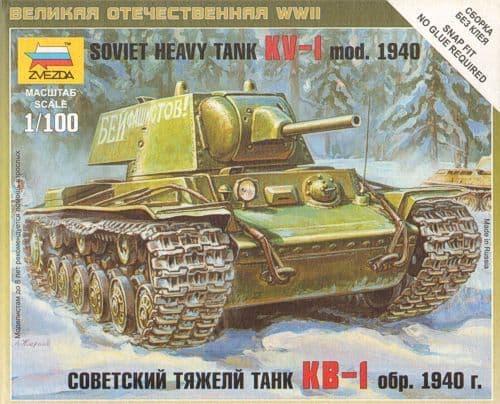 Zvezda 1/100 KV-1 Model 1940 # 6141