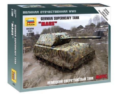 "Zvezda 1/100 ""Maus"" German Superheavy Tank # 6213"