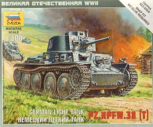 Zvezda 1/100 Panzer 38(t) Light Tank # 6130