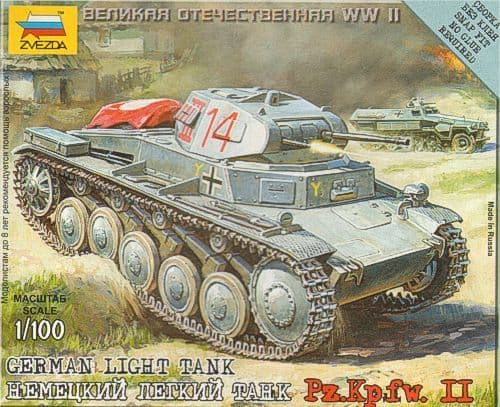 Zvezda 1/100 Panzer II Light Tank # 6102