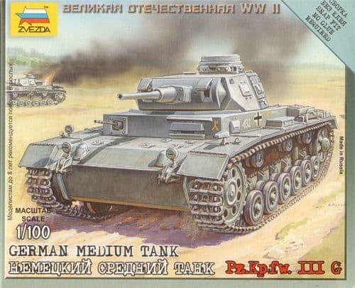 Zvezda 1/100 Panzer III Ausf G # 6119