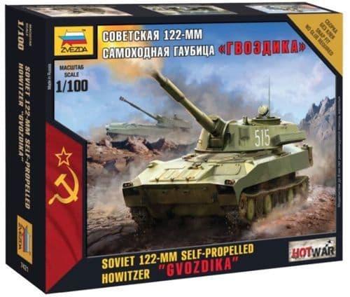 """Zvezda 1/100 Soviet 122-MM Self-Propelled Howitzer """"Gvozdika"""" #"""