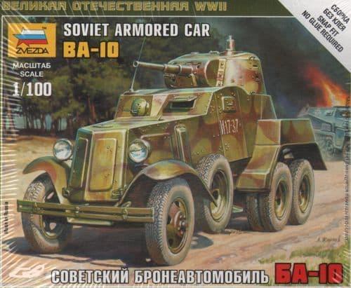Zvezda 1/100 Soviet Armored Car BA-10 # 6149